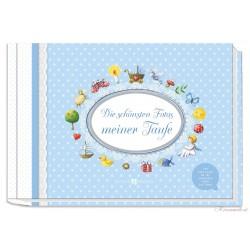 Erinnerungsalbum Die schönsten Fotos meiner Taufe blau Erinnerungsalben für die Taufe