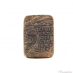 Bronzeplakette Weg Handschmeichler