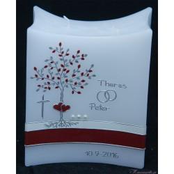 Hochzeitskerze Baum mit Herzen Hochzeitskerzen-exklusiv