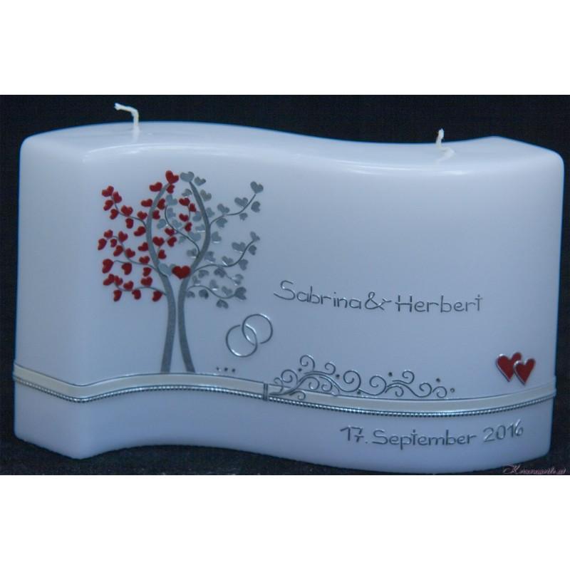 Hochzeitskerze Herzbaum Hochzeitskerzen-exklusiv