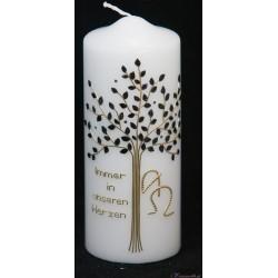 Trauerkerze Glitzernder Baum Trauerkerzen und Gedenkkerzen