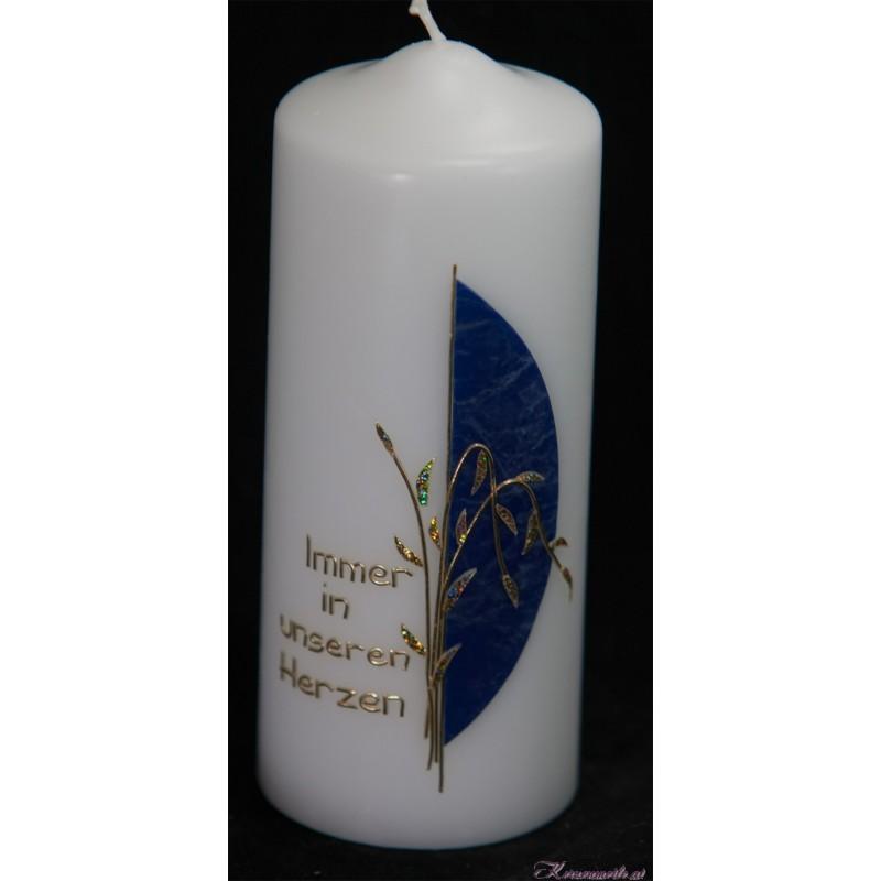 Trauerkerze Nachtblau Trauerkerzen und Gedenkkerzen