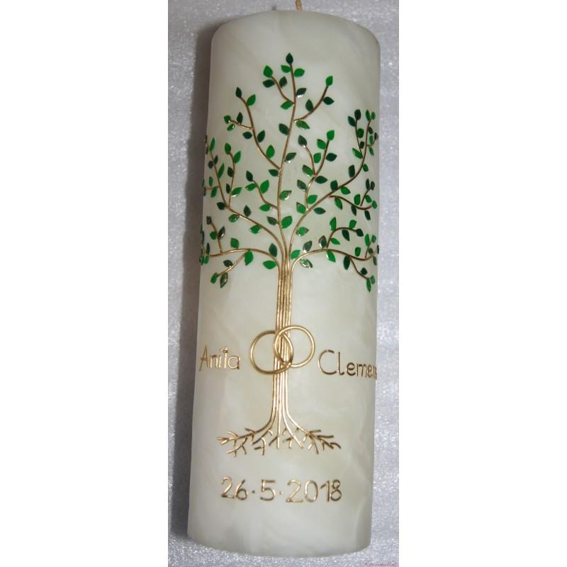Bienenwachshochzeitskerze Grüner Baum Hochzeitskerzen aus Bienenwachs