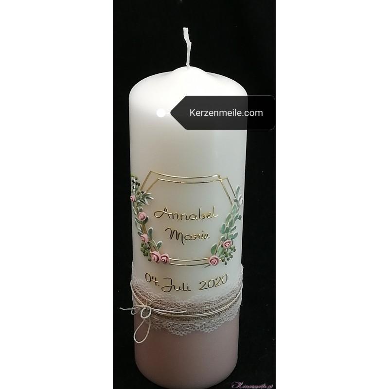 Taufkerze Vintage Roses Taufkerzen Premium