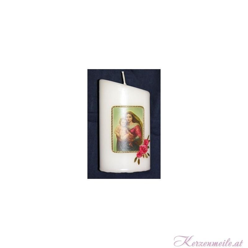 Fotokerze Maria mit Kind Religiöse Kerzen