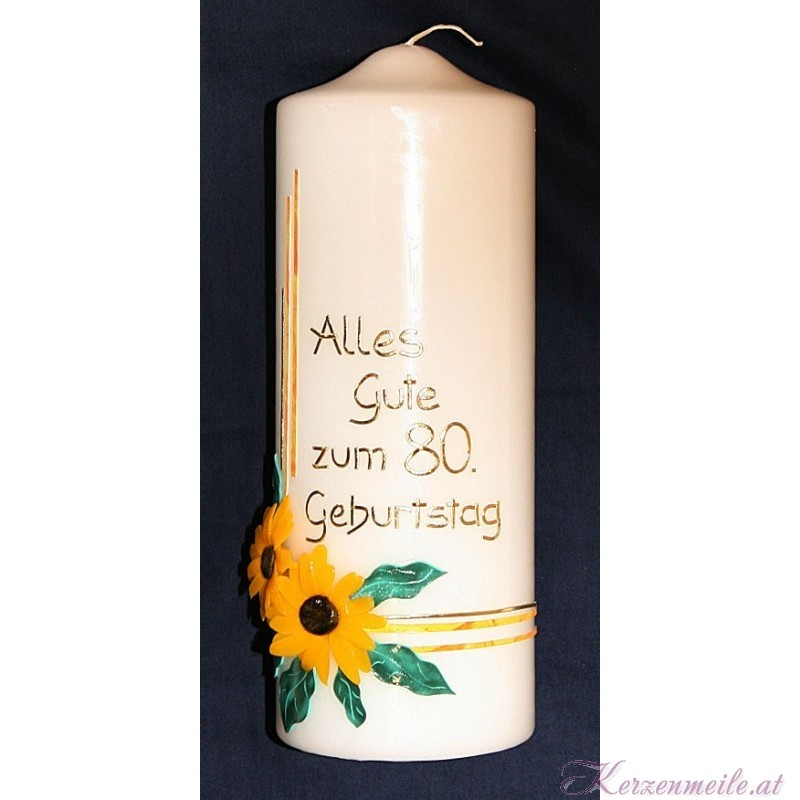 Geburtstagskerze Sonnenblume