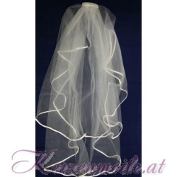 Brautschleier mit Satinband creme