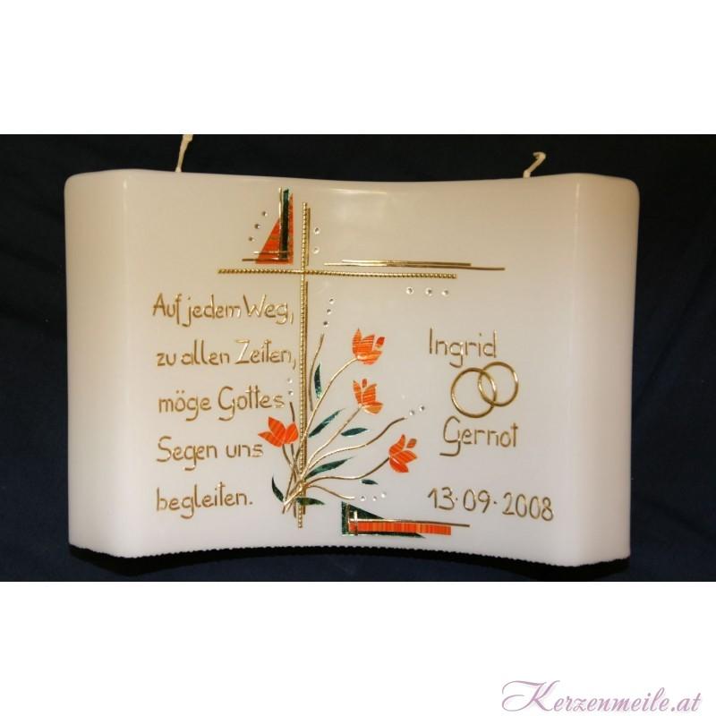 Hochzeitskerze Amazing Grace Orange Hochzeitskerzen-exklusiv