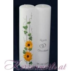 Hochzeitskerze Sonnenblumen Hochzeitskerzen-exklusiv