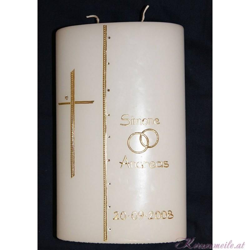 Hochzeitskerze Golden Crystall Hochzeitskerzen-Glamour