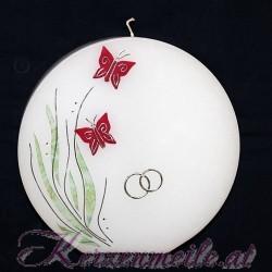 Hochzeitskerze Schmetterlinge Hochzeitskerzen-Ausstellungsstuecke