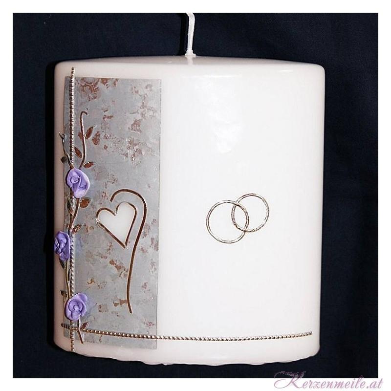 Hochzeitskerze Lilac Hochzeitskerzen-Ausstellungsstuecke
