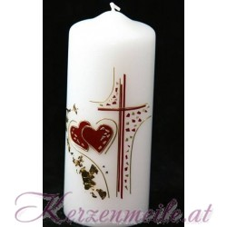 Hochzeitskerze Loving Hearts Hochzeitskerzen-Ausstellungsstuecke