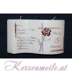 Hochzeitskerze La Rose