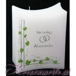 Hochzeitskerze Green Leaves Hochzeitskerzen-klassisch elegantHochzeitskerze Green Leaves Hochzeitskerzen-klassisch elegant Ho...