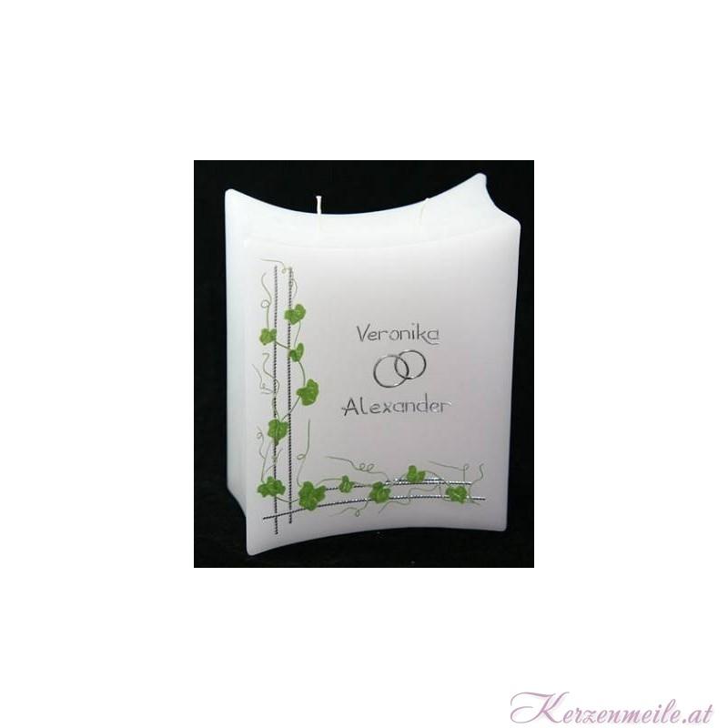 Hochzeitskerze Green Leaves Hochzeitskerzen-klassisch elegant