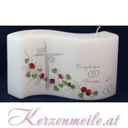 Hochzeitskerze Blumenmeer