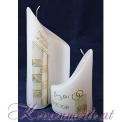 Hochzeitskerze Yin Yang 2 Hochzeitskerzen-modern
