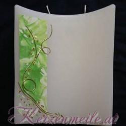 Hochzeitskerze Green Mosaik Hochzeitskerzen-modern