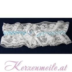 Strumpfband weiss-blau