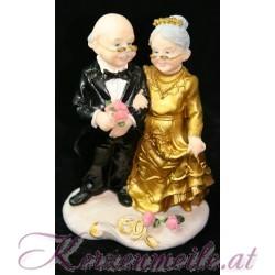 Tortenfigur Brautpaar Goldene Hochzeit