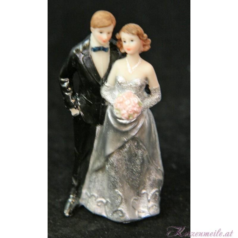 Tortenfigur Brautpaar Silberne Hochzeit 3