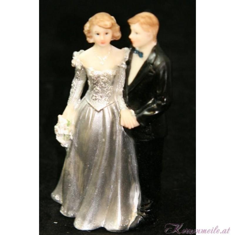 Tortenfigur Brautpaar Silberne Hochzeit 2
