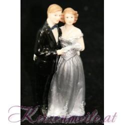 Tortenfigur Brautpaar Silberne Hochzeit 1