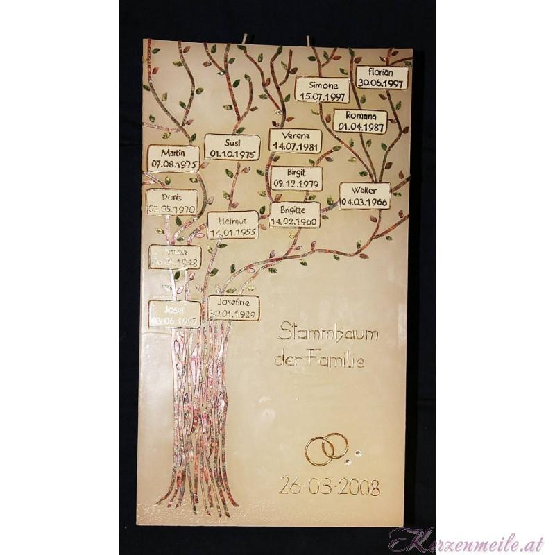 Hochzeitskerze Stammbaum