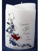 Wunderschöne Hochzeitskerzen online bestellen im Onlineshop
