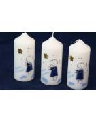 Kleine Geschenkkerzen als Erinnerung an die Taufe für Ihre Gäste.