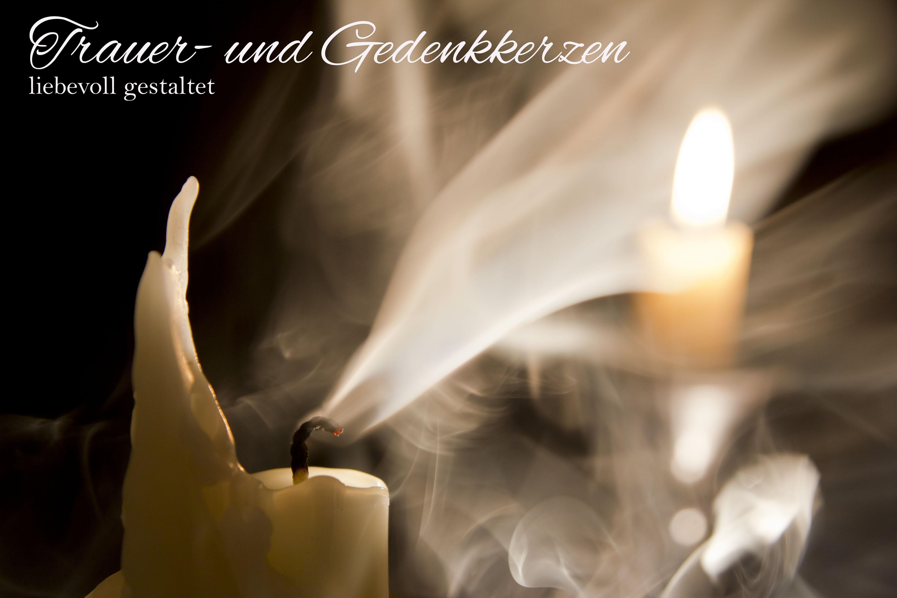 Trauer-  und Gedenkkerzen